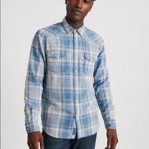 Lucky Brand Grom Indigo Western Button Shirt